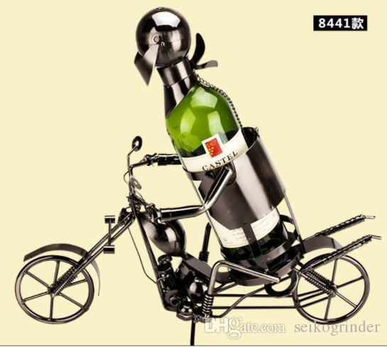 Wholesale One Bottle Holder Wrought Iron Motorcycle Model With