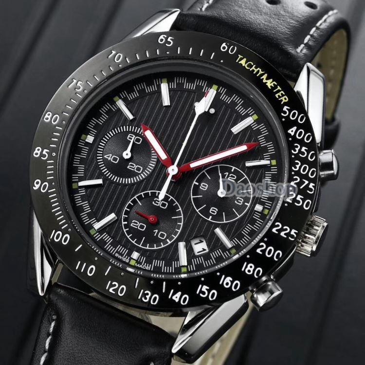 771f6e079ac2 Compre 2018 Relojes Para Hombre Marca Mar Lujo Casual Cronógrafo Militar De  Cuarzo Deportes Reloj De Pulsera De Cuero Reloj Masculino Reloj Maestro  Relogio ...