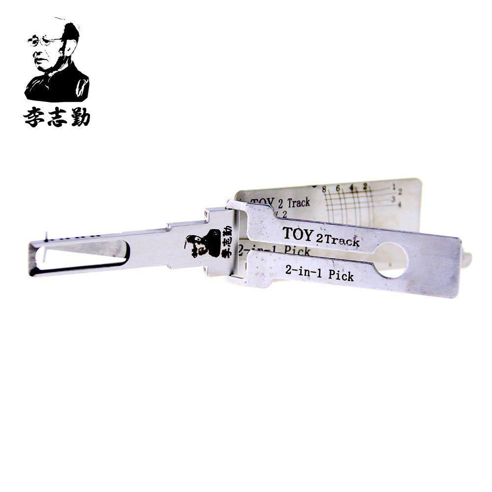 venda quente melhor lishi lock pick auto ferramentas 2em1 pick lishi TOY 2 pista lockpick e decodificador para Avalon Xl 2005 Avante