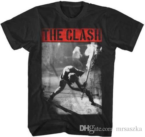 The Clash Smashing Guitar S, M, L, XL, 2XL Black T-Shirt