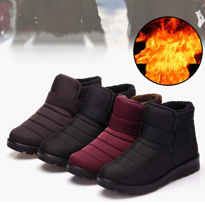 dd0cb7f184f68 Compre Masorini Moda Hombre Botas De Alta Calidad A Prueba De Agua Tobillo  Botas De Nieve Zapatos De Piel Caliente Felpa Gancho Loop Zapatos De  Invierno ...