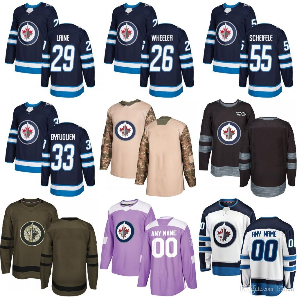 info for c1500 b05cd 2018 Mens youth Winnipeg Jets Custom Hockey Jerseys Customized Name Number  Navey Blue White Heritage Classic Jersey Stiched