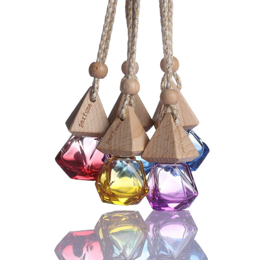 Random Color!! 2018 New Hot Air Freshener Car Hanging Diffuser Empty Glass Perfume Fragrance Bottle Gift