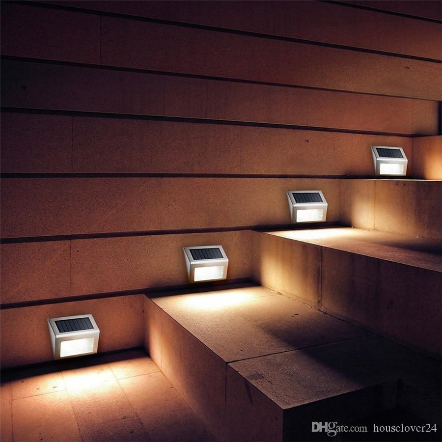Acheter Solaire Nuit Rechargeable Solaire Lampe De Lumière Mur PIR ...