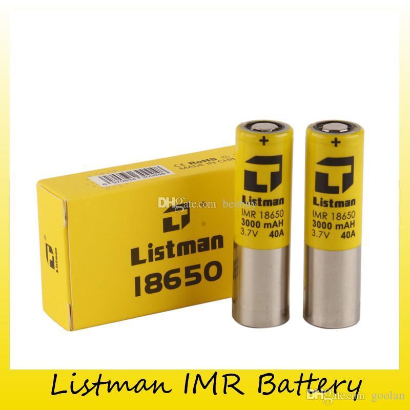 Mono D Batterien Authentische Listman Imr 18650 3000 Mah 40a 3,7 V ...