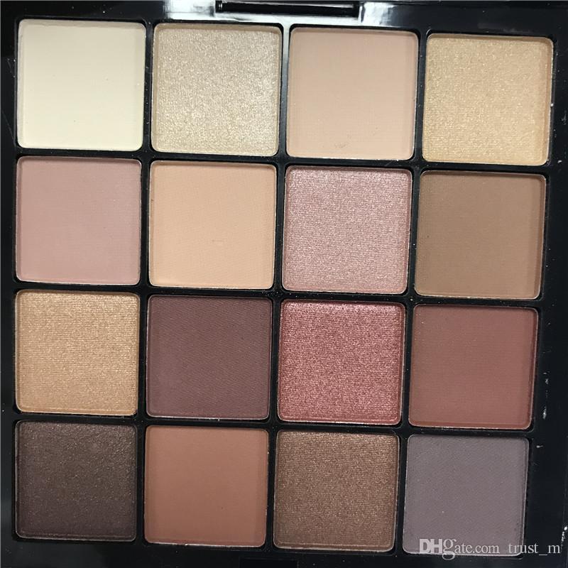 A melhor qualidade!!! NYX ULTIMATE 16 cores Paleta Da Sombra Ombre Paletas Da Sombra de Ombre Shimmer Matte Maquiagem Cosméticos paleta Frete grátis