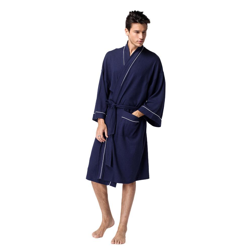 Product image  lowest price f9acc db0d3 2018 MenS Bathrobe Cotton Robe  Sleepwear Cotton Men Kimono Robe Nightgown Pajamas ... 862fb01e8c58