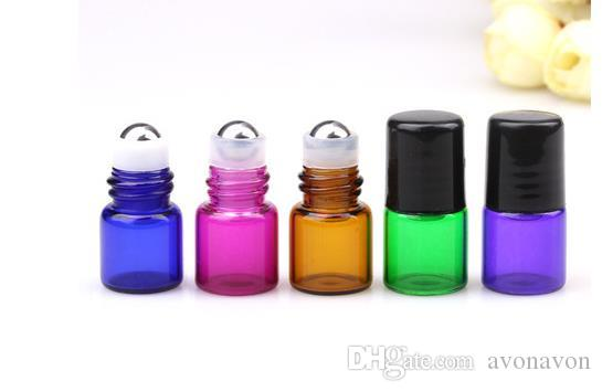 purple blue 1ML Perfume Amber Mini Glass Bottle, 1CC Amber Sample Vial,Small Essential Oil Bottle Factory price a666