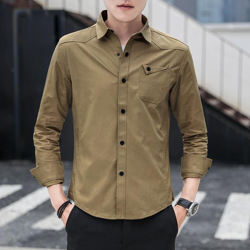 Shirts Imported From Abroad 2019 New Chinese Style Men Shirt Long Sleeve Solid Casual Streetwear Men Shirt Man Cotton Linen Shirt Men Clothes High Safety
