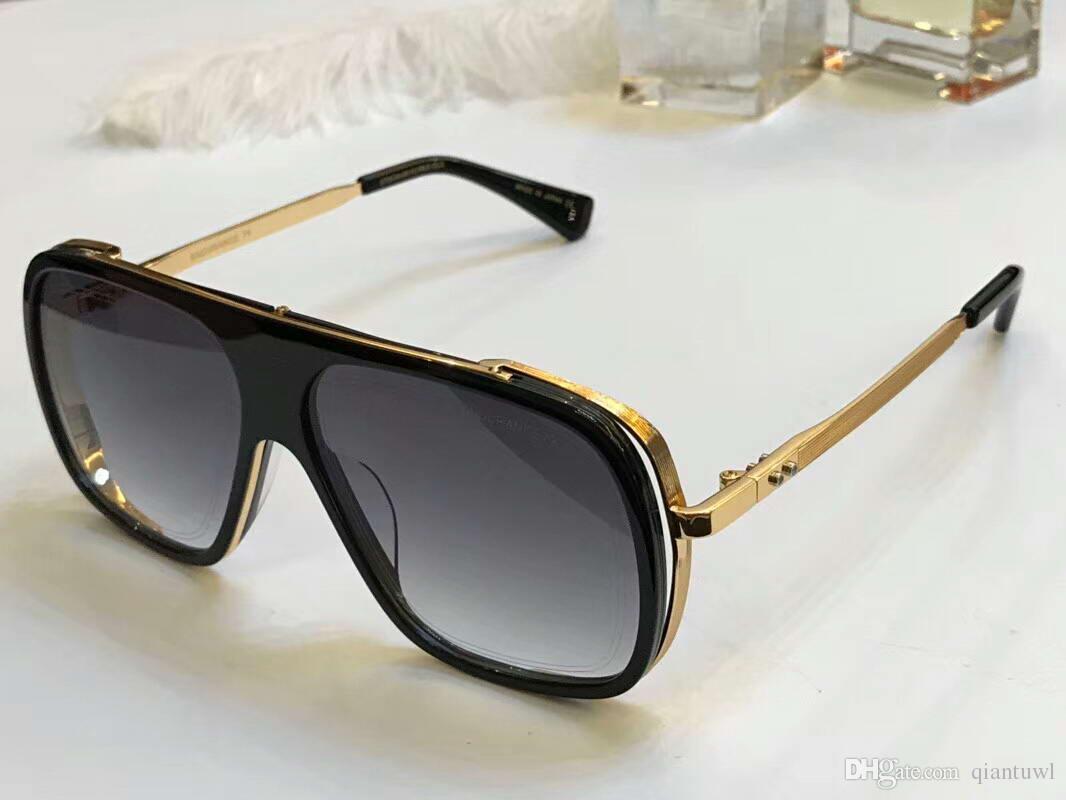 Cool Mens Square ENDURANCE Gafas de sol Oro Negro / Gris Gafas de sol Gafas de sol Gafas para conducir Moda Nuevo en caja