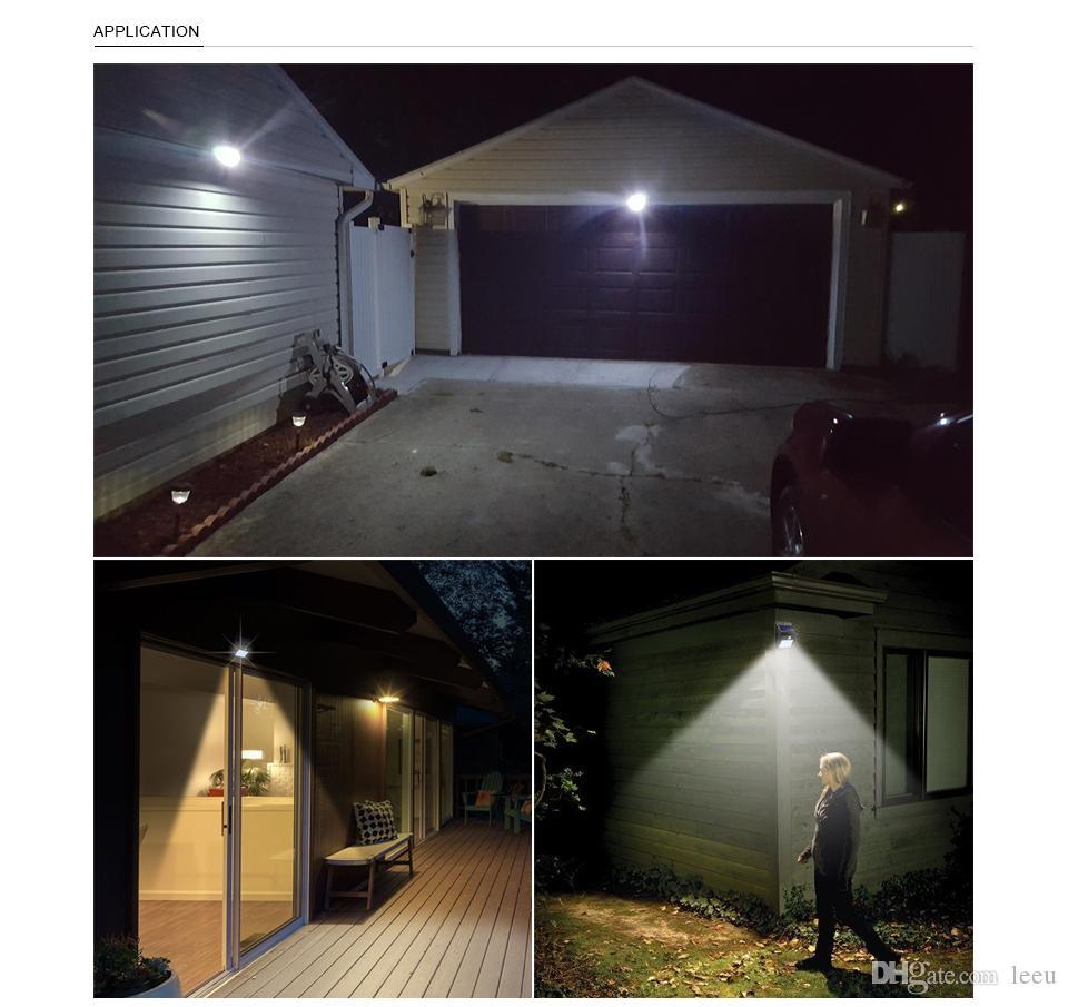 Solar Power LED солнечный свет Открытый Wall Солнечная Светодиодные лампы с лампой PIR датчик движения Night Security Street Yard Путь сада лампы