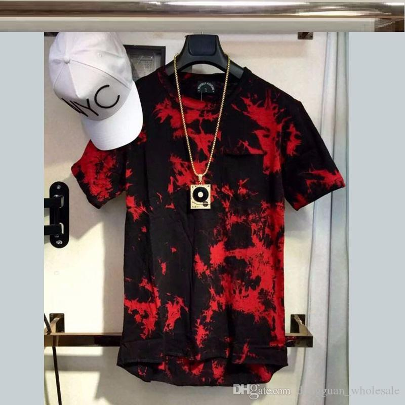 Wonderful 2018 New Balm Hip Hop T Shirt Tie Dye Tops Tee Extended Side  ZO45