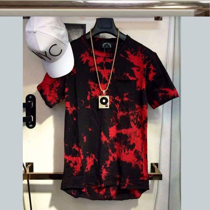 Acquista 2018 Nuovo Balsamo Hip Hop T Shirt Tie Dye Top Tee Zip Laterale  Estesa T Shirt Uomo Swag Urbano Abbigliamento Kanye West M XL A  17.81 Dal  ... 6ea5f087c9ac