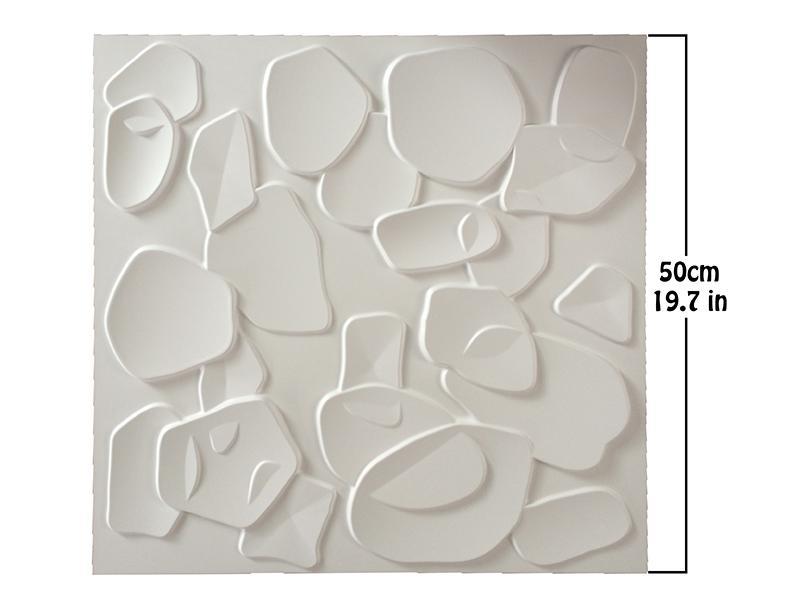 Großhandelsneue 3D PVC-Wand für Haus-Dekor 50cm 3D geprägte wasserdichte Wand-Brett DIY-europäische Art-runde Backsteinmauer-Aufkleber