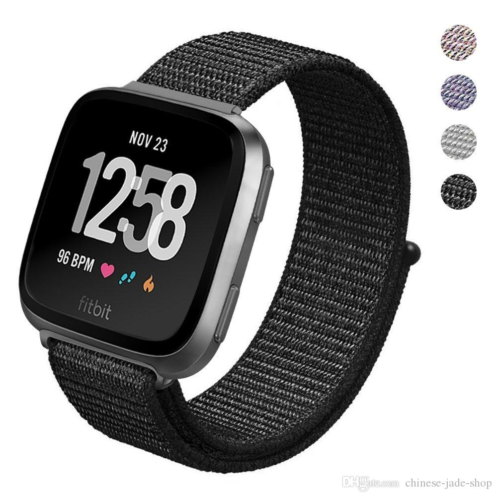 For Fitbit Versa Sport Woven Nylon Hook and Loop Bracelet Watch Strap Replacement Watch Band Adjustable pcs