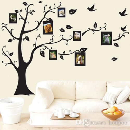5070cm Tree Of Life Wall Stickers With Photo Frame Wallpaper For