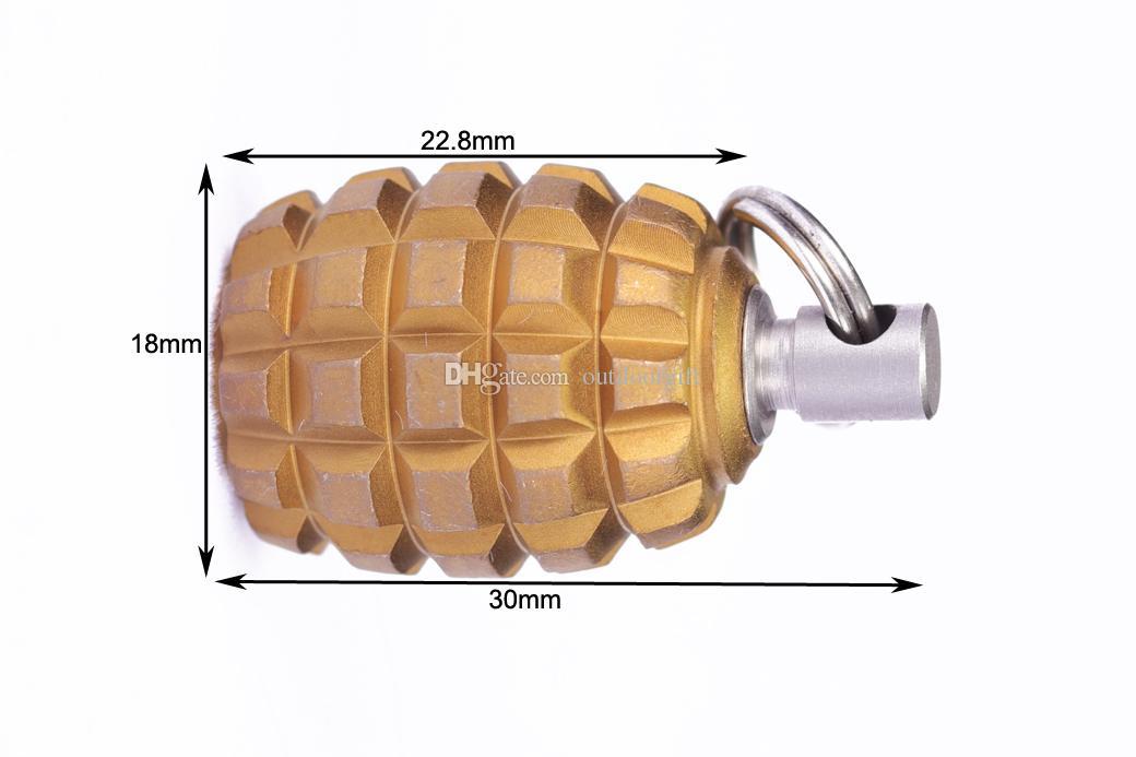 EDC Титана Ti талреп шарик кулон парашют шнур нож инструмент молния тянуть MGQ-YQ 30x18mm с зубочисткой