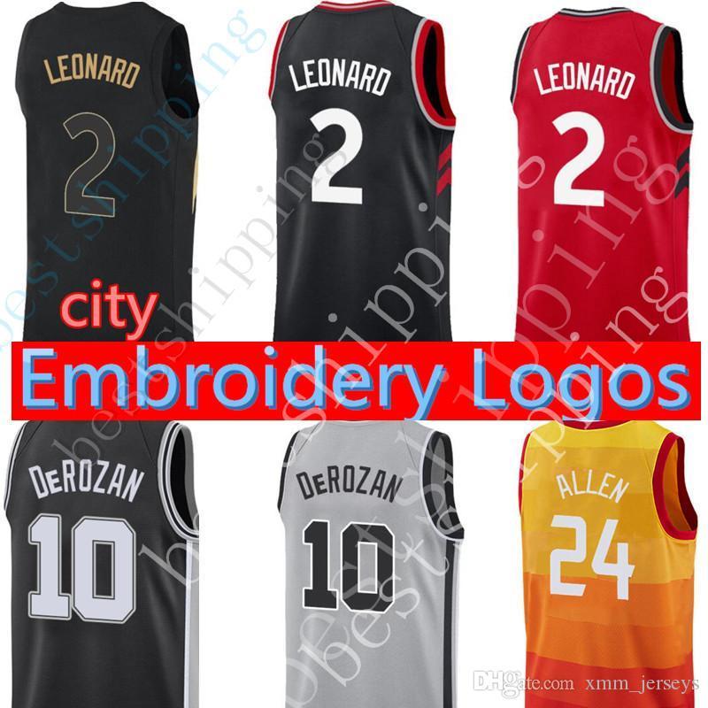 062c3544e 2018 Men 10 Demar Derozan 2 Kawhi Leonard Jersey New Basketball Jerseys  Cheap Sales Stitched Logos From Xmm jerseys