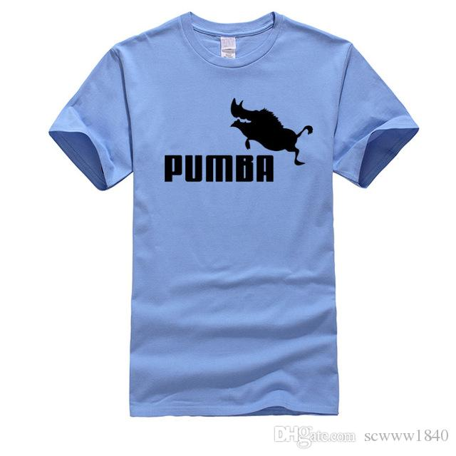 Top Quality Cotton Casual Simba Pumba PrinTop Quality Cotton Casual Simba Pumba Printed Men T Shirt Fashion Funny Men'S Short Sleeve O-Neck