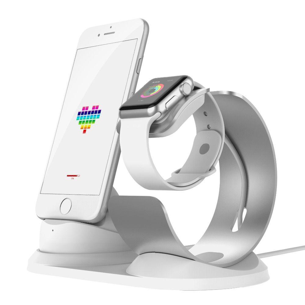 SchöN Aluminium Stand Lade Dock Cradle Für Apple Uhr Telefon Ipad Android Telefon Heimelektronik Zubehör Mikrofonstativ