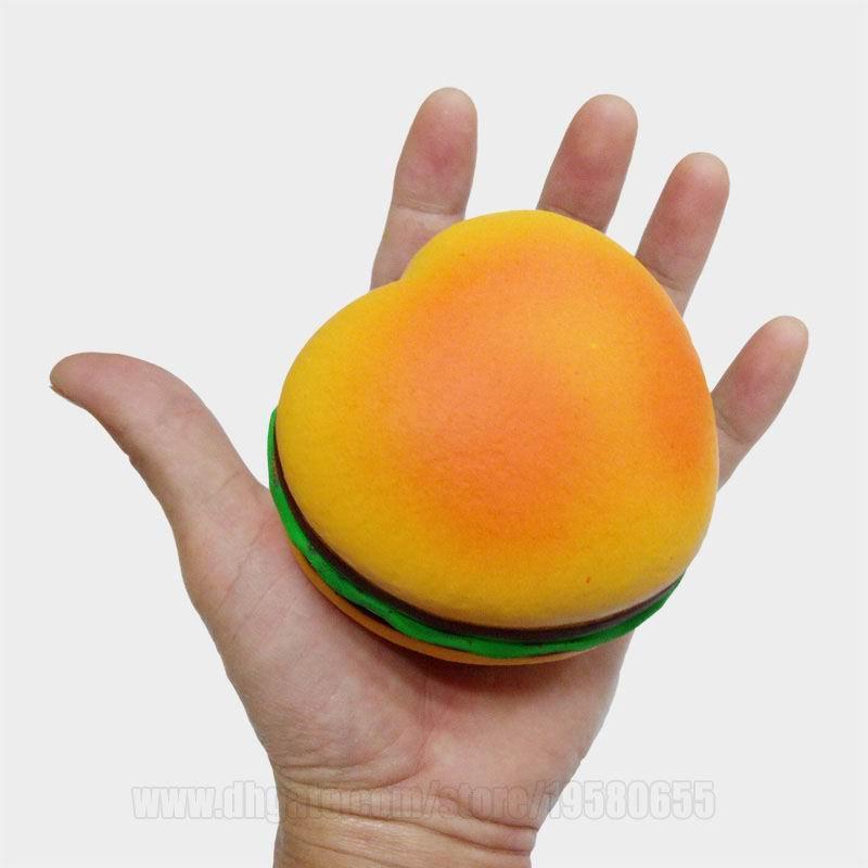Jumbo Squishies Hamburger Slow Rising Squishy Scented Heart Shaped Toys Food Big Bun Simulation Bun Kids Free Shipping