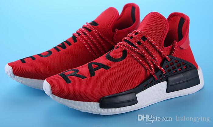 3d92fa9bd965a 007 Factory Price Original Pharrell Williams X NMD Human Race Running Shoes  NMD Runner NMD For Men Women Trainers Sneakers Boots Size 36 45 Yellow Shoes  ...