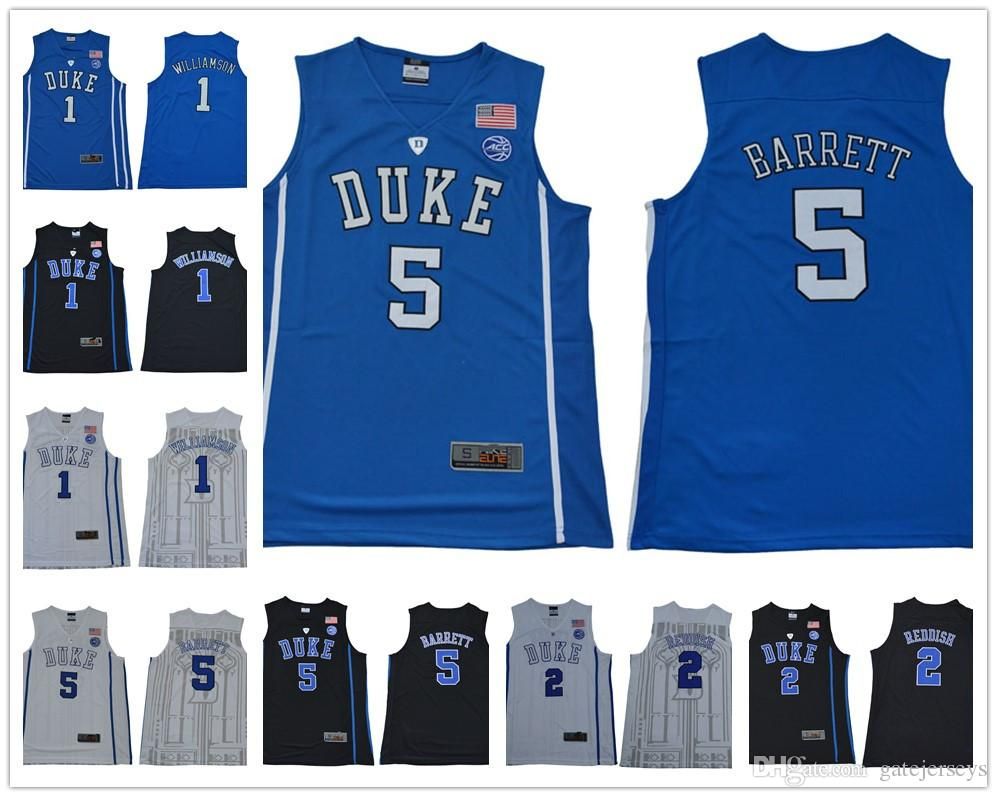 2019 Cheap NCAA Duke Blue Devils 1 Zion Williamson 5 RJ Barrett 2 Reddish  Royal Blue White College Basketball Jersey From Gatejerseys 1d770f7d5