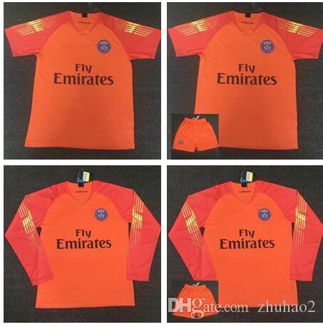 buy popular 43b00 db2da 2018 Soccer Goalkeeper kit MBAPPE PSG DI MARIA VERRATTI CAVANI MEN DE FOOT  Goalkeeper FOOTBALL SHIRTS Goalie uniforms kit men top