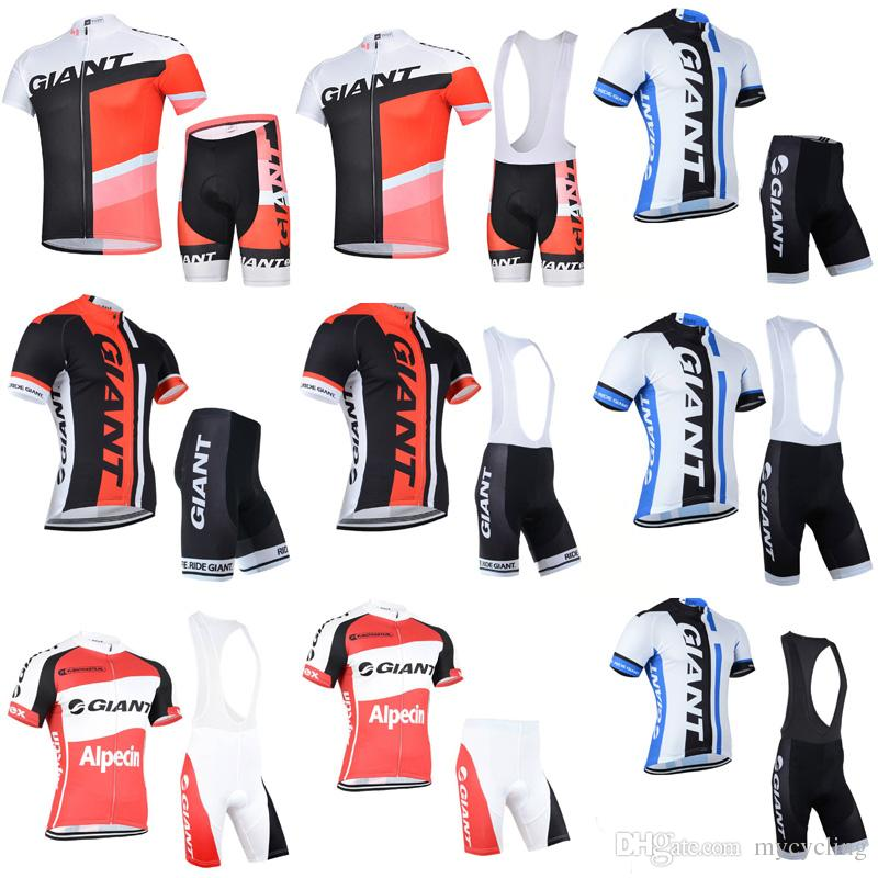 ad3078e48 GIANT Cycling Jersey Set Short Sleeve Men 2018 Road Bike Wear Mountain Bike  Clothes MTB Cycling Clothing Shorts Padded Ropa Ciclismo C2901 Cycling  Jersey ...