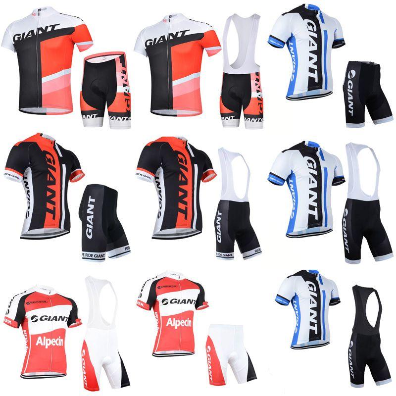 GIANT Cycling Jersey Set Short Sleeve Men 2018 Road Bike Wear Mountain Bike  Clothes MTB Cycling Clothing Shorts Padded Ropa Ciclismo C2901 Cycling  Jersey ... 444dc6e01