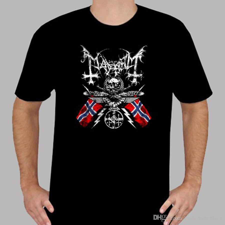 New Mayhem Black Metal Band Logo T-shirt nera da uomo Taglia S a 3Xl T-Shirt Uomo Moda uomo manica corta Cotton Custom 3XL