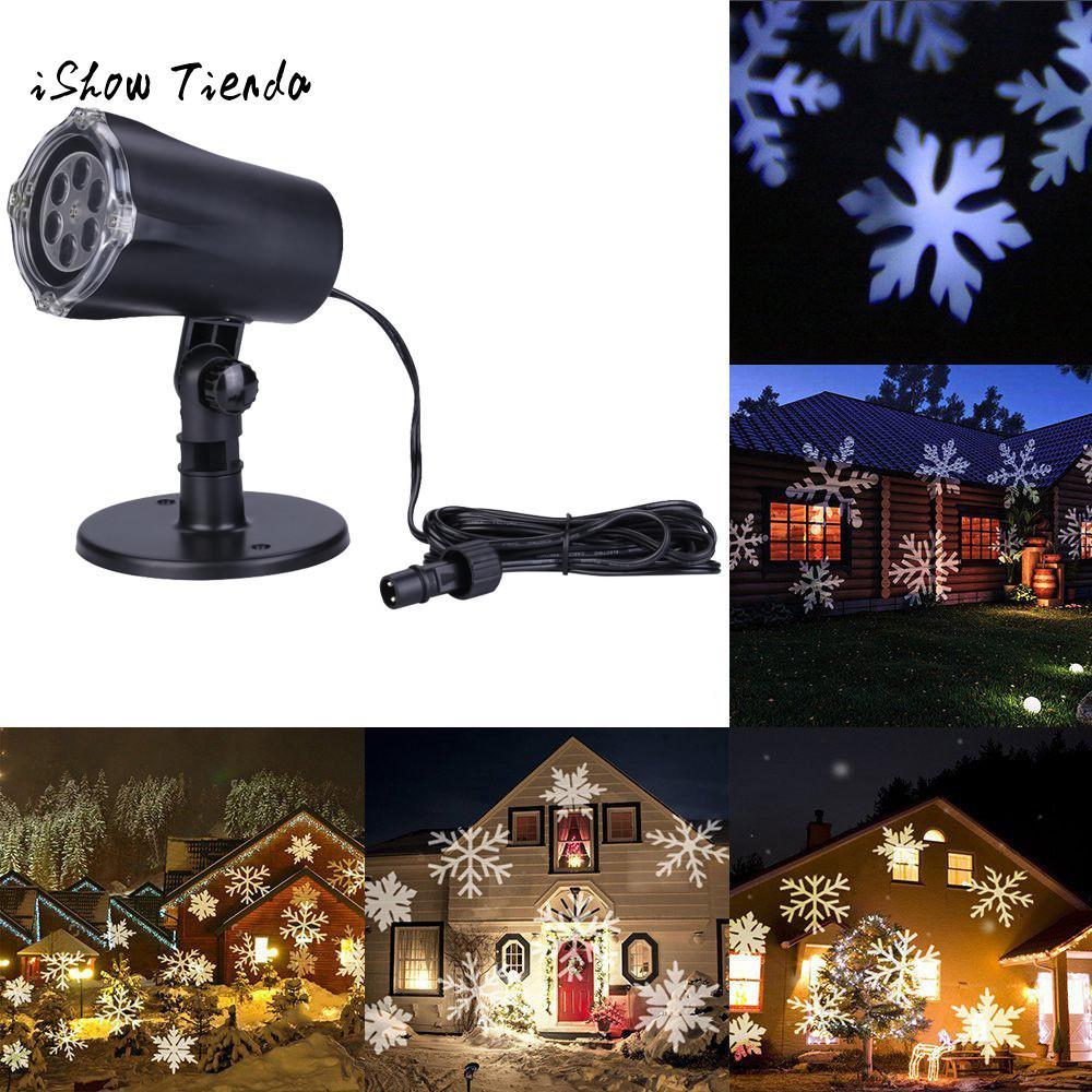 festival led lights moving projector landscape snowflake pattern lamp outdoor christmas tree home navidad party decoration christmas outdoor decorations on - Christmas Outdoor Decoration Patterns