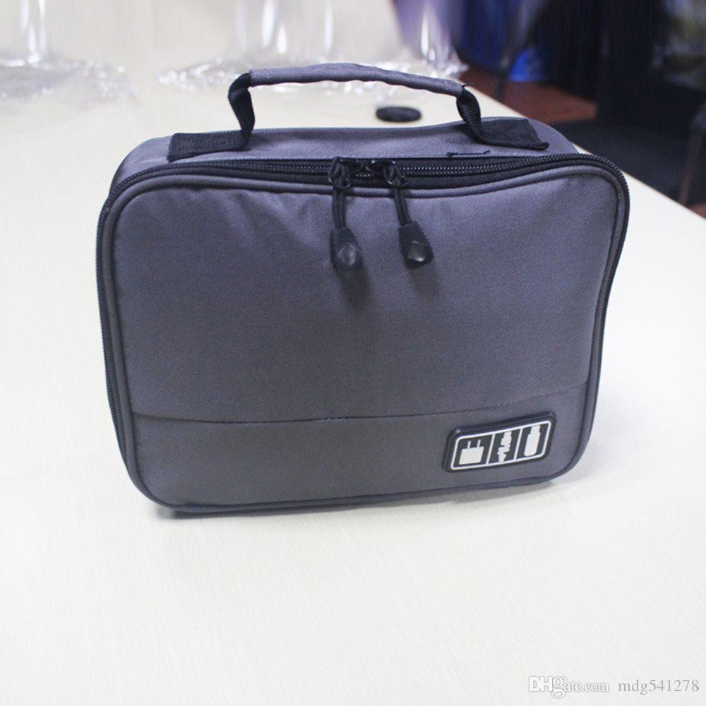 Cable Organizer Bag Case for Power Charger Adapter USB Flash Hard Drive Travel