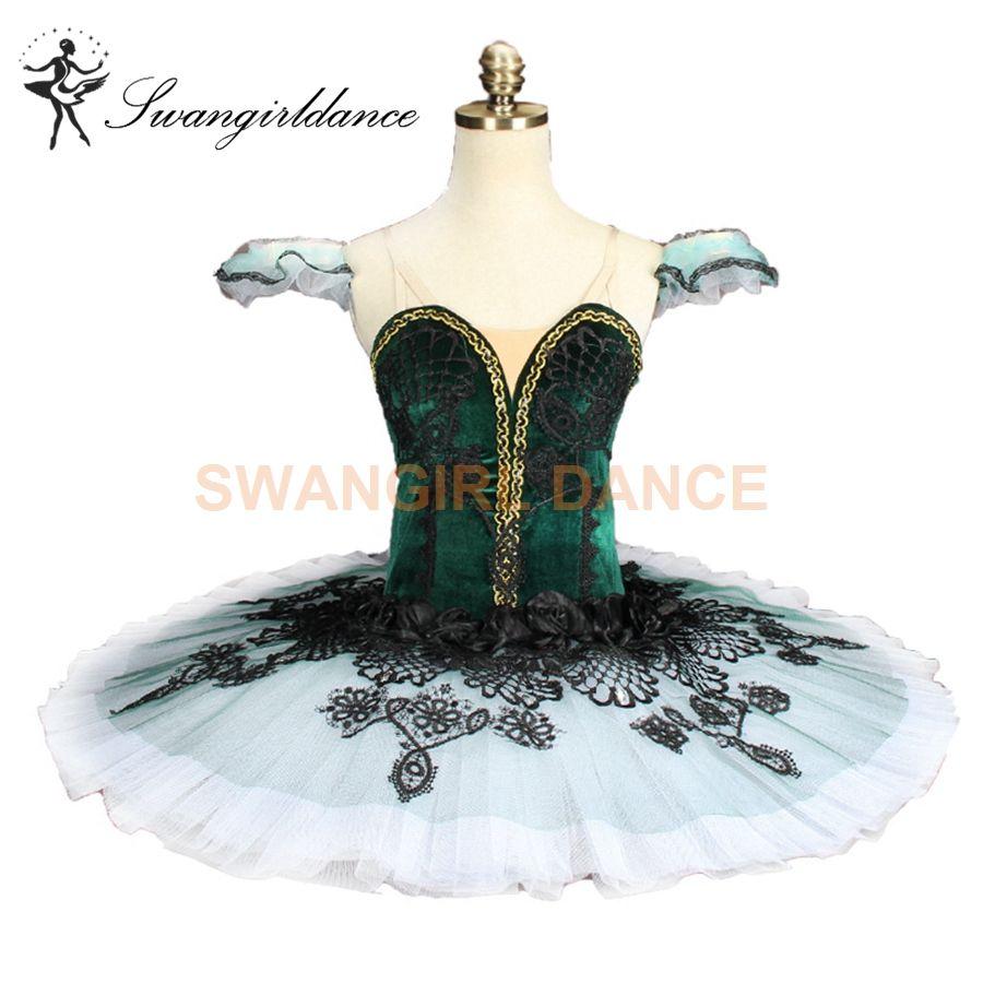 76a0617b9 adulto Velvet Green Don Quijote ballet profesional tutu verde Emerald  Pancake Tutu Costume Ballet Classic Ballet Tutu Costume Girls BT9144B