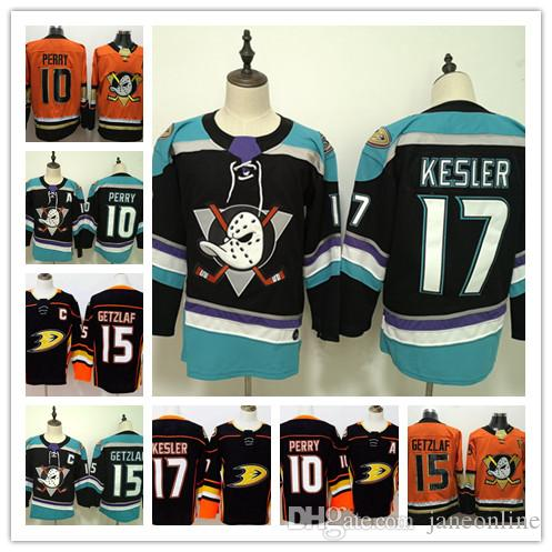 new style b3d7b 8331e 2019 NEW Third Mighty Anaheim Ducks Hockey Jersey Mens #17 Ryan Kesler 15  Ryan Getzlaf 10 Corey Perry Jerseys black teal orange