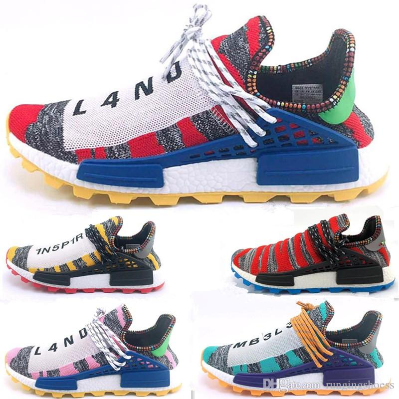 fef4894e9bf8 2019 2018 Human Race NEW Pharrell Williams HU NMD Trail EQUALITY HOLI Mens  Designer Sports Running Shoes For Men Sneakers Women Casual Trainers From  ...