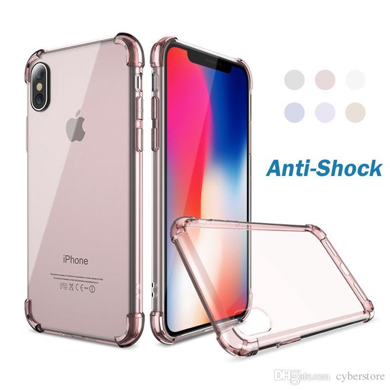 4c41a13f460 Accesorios Celulares Funda Antichoque Clásica De TPU Para IPhone X IPhone 7  8 Plus Funda Transparente A Prueba De Golpes De Silicona Para IPhone 5 6  Plus ...