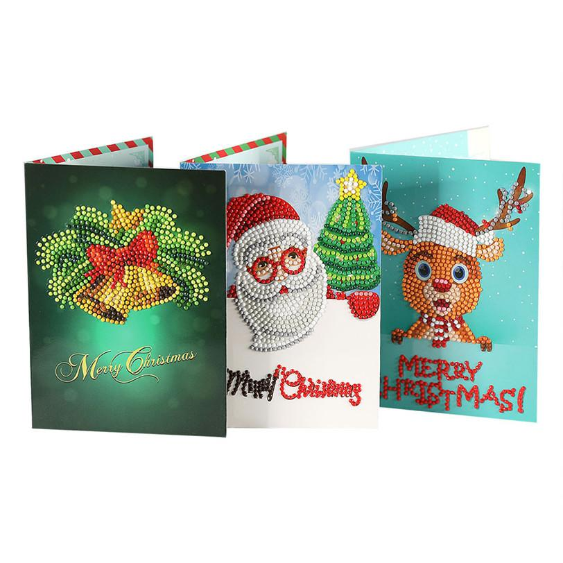 Großhandel 5d Diamant Malerei Weihnachtskarten Weihnachtsmann ...