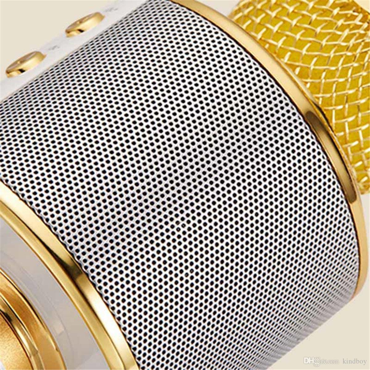 WS-858 Microphone Wireless Speaker Portable Karaoke Hifi Bluetooth Player WS858 For iphone 6 6s 7 ipad Samsung Tablets PC better than Q7 Q9