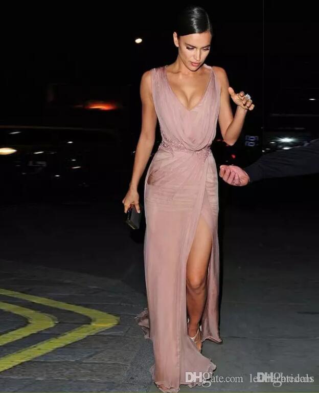 Großhandel 2018 Irina Shayk Celebrity Kleider Sexy Roter Teppich ...