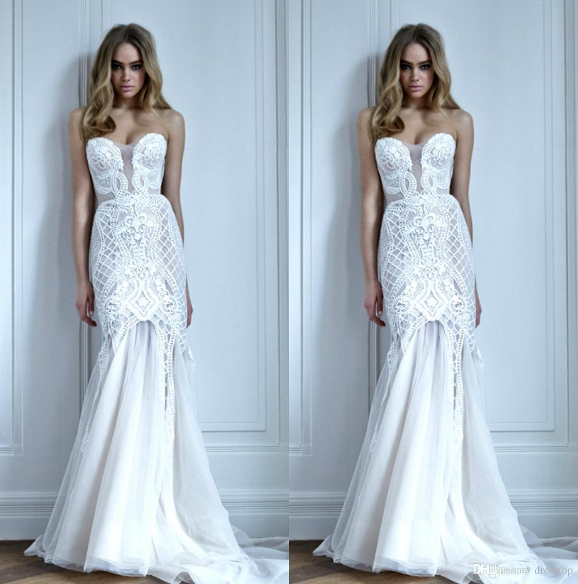 Pallas Couture Mermaid Wedding Dresses Sweetheart Neck Backless ...