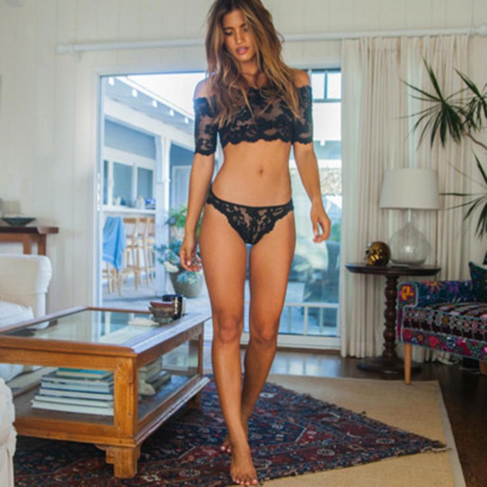 3f1c20276d8 2019 Women Bra Set Sexy Lingerie Lace Tank Top Female Hollow Out ...