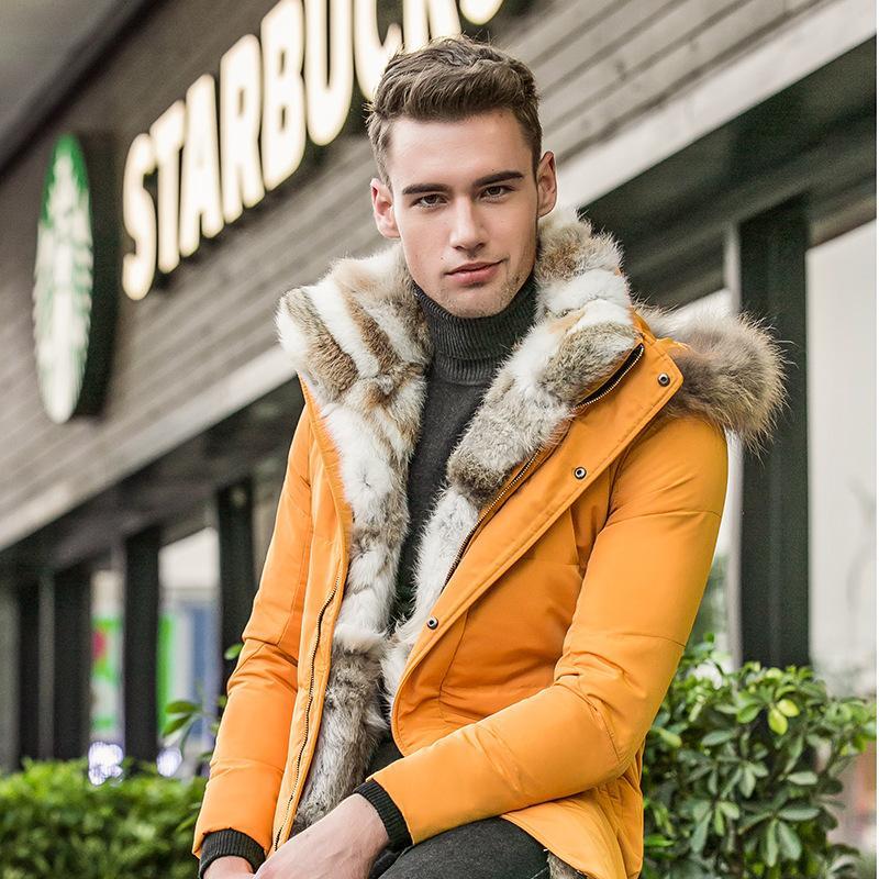 Großhandel Modemarke Kleidung Winter Warme Mantel Mann Bio Daunenjacke Pelz  Kapuze Lässige Oberbekleidung Männer Dicke Freizeit Plus Größe Daunenjacke  ... 3e1cc26125