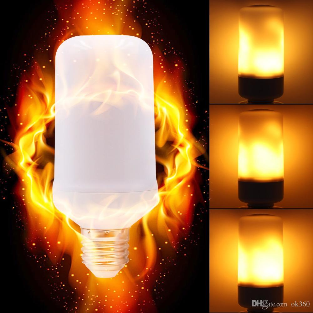 f3ff0305b5f Compre 3 Modos De Luces De Llama De Sensor De Gravedad E27 E26 E14 Efecto  De Llama De LED Bombilla De Luz De Fuego 9W Parpadeo De Luz De Decoración  De ...