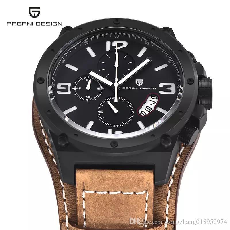 bb251a2d1c7 Compre Pagani Design Relógios Homens Militar Relógio De Quartzo De ...