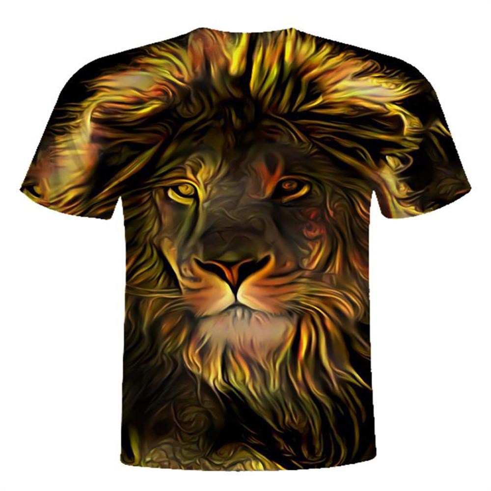 c8a0d9bf5b78 Big Yards New Fashion Brand T Shirt Men Women Summer 3d Tshirt Print Lions T  Shirt Tops Tees T Shirt Slogan Daily T Shirts From Finebeautyone
