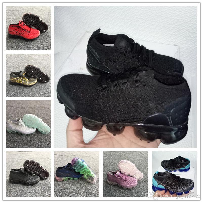81972cf02c6 Acquista Nike Air Max Airmax Vm 2018 Air Knitting Vm Portable Kids Running  Shoes Bambini 2018 Vapores Calzature Sportive Ragazzi Ragazze Training  Sneakers A ...