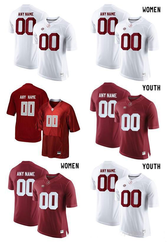 46e318e2b ... 2018 alabama crimson tide customize college football limited women men  youth jersey red white jersey