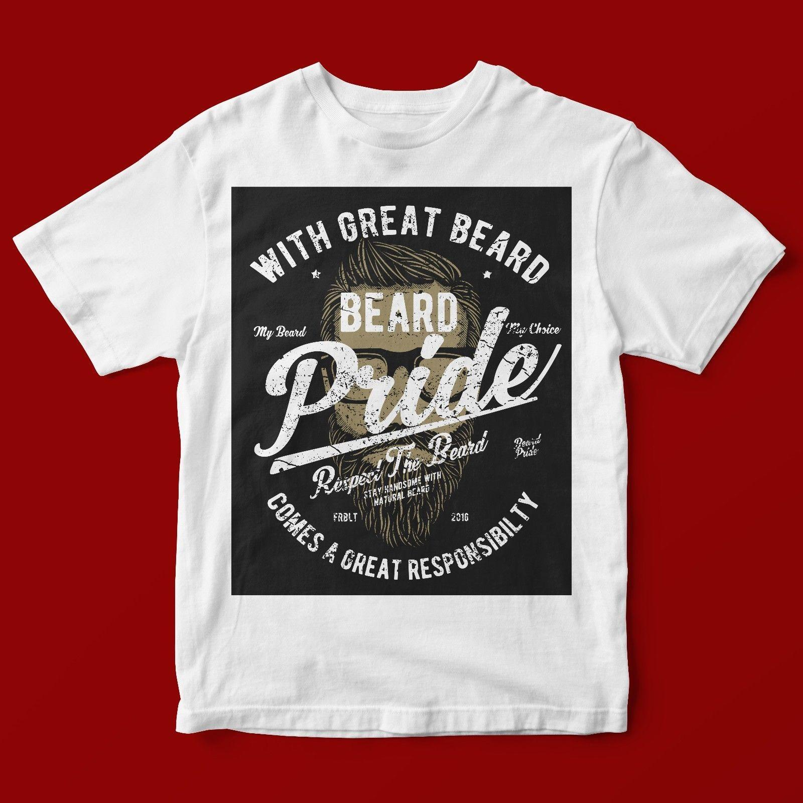 WITH GREAT BEARD T-SHIRT UNISEX 830 Print Short Sleeve T Shirt Free Shipping Short-Sleeved Print Letters