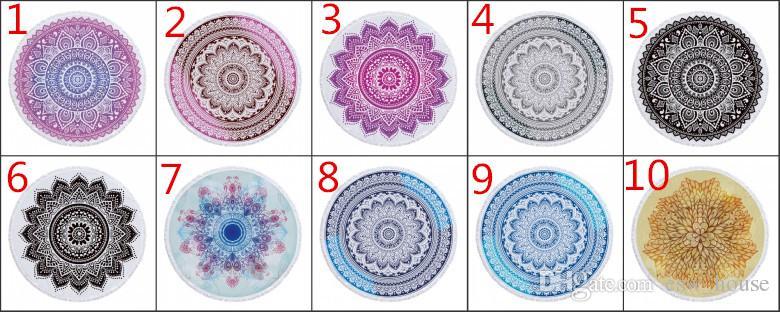 Bohemian Mandala Tapestry Beach Buttare grande rotonda Telo Coperta da picnic Mat Pool Arazzo Decoration Yoga Mat